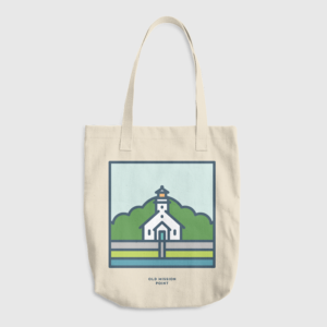 Old Mission Point Lighthouse Tote | Northpoint Studio
