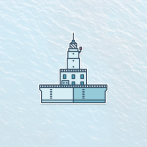 North Manitou Shoal Lighthouse aka The Crib Decal